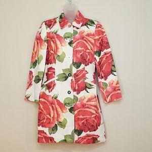 Vintage Alberto Makali sz 6 Red Rose Jacket